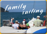 sailing on comfortable boat in Phuket with family