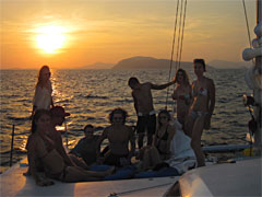 sunset trip on day sailing boat in Phuket